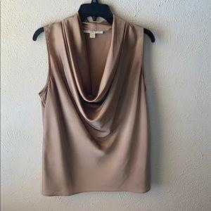 Elegant silky Boston Proper sleeveless blouse, 14